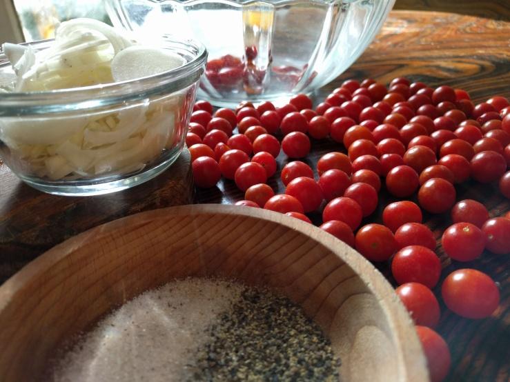 French tomato salad