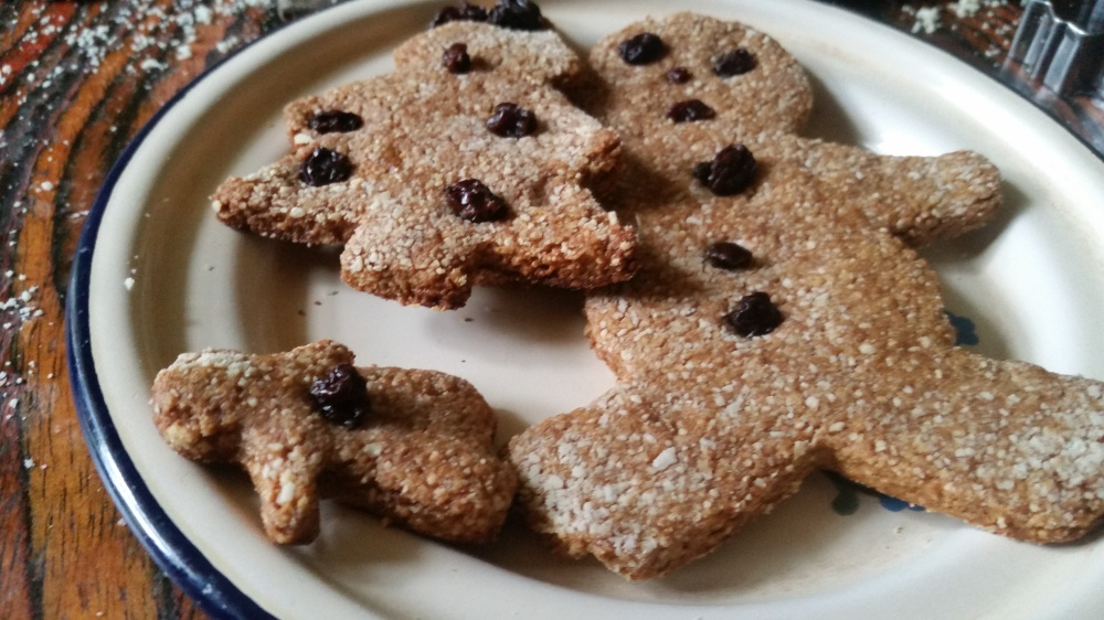grain-free Christmas gingerbread cookies