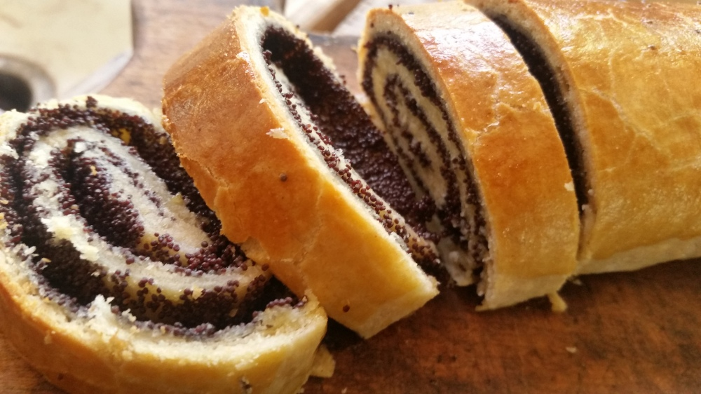 Slovenian Poppy seed Easter bread