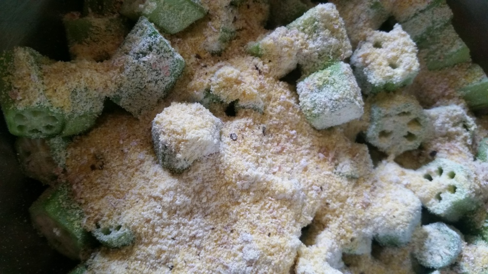Southern Fried Okra and Luffa Gourd