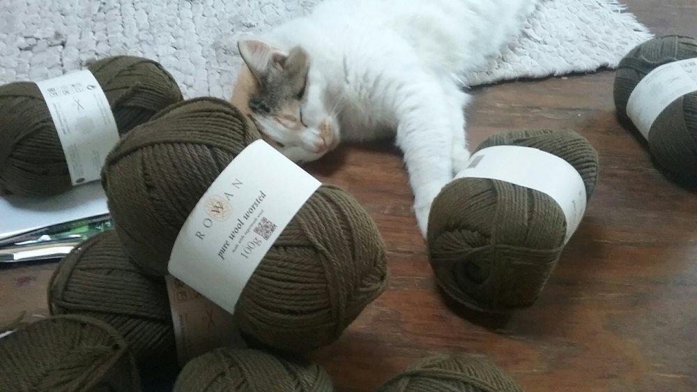 Knitting fisherman sweater