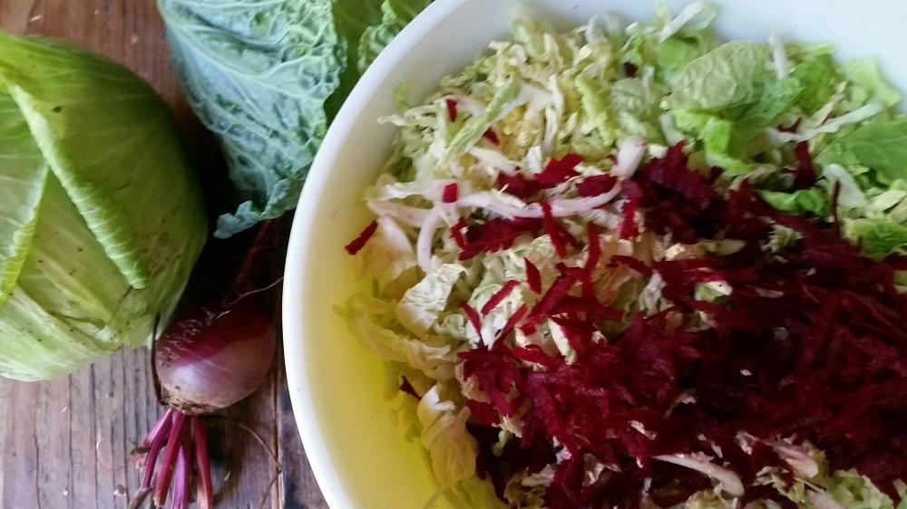 Pink sauerkraut 4