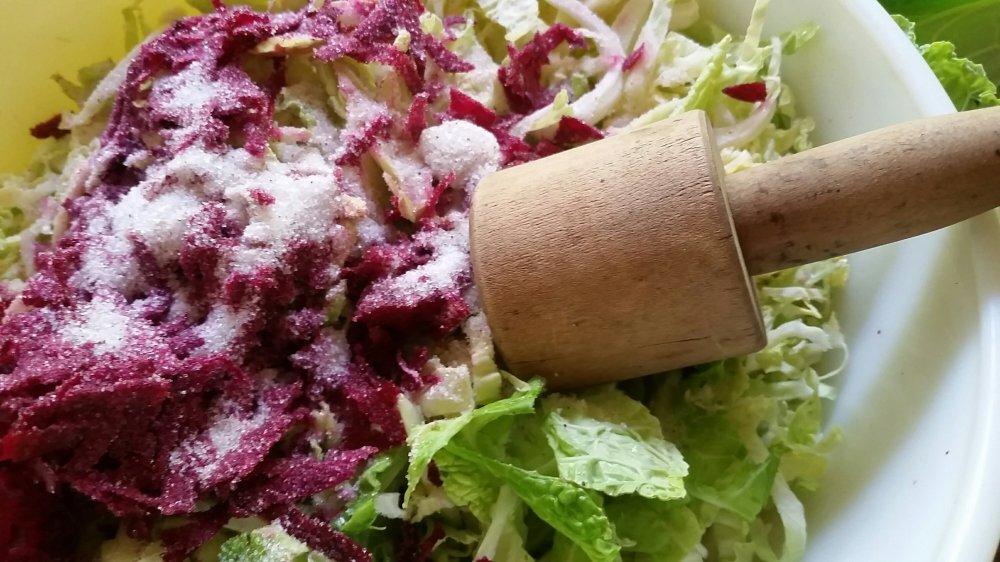 Pink sauerkraut 3